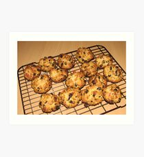 Rock Cakes - Fresh from the Oven Art Print