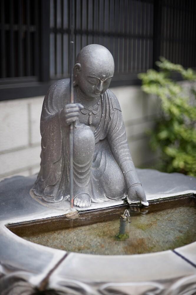 Onsen Fountain Detail by Skye Hohmann
