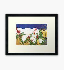 Snow on Holly Framed Print