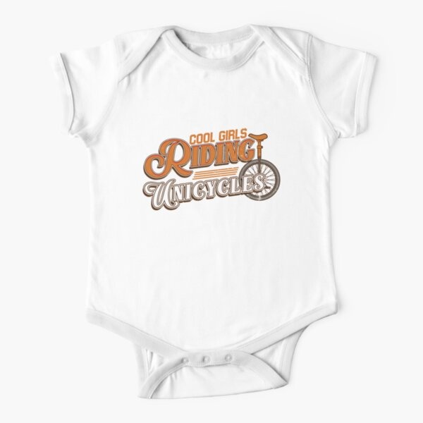 Unicycle, unicycling Short Sleeve Baby One-Piece