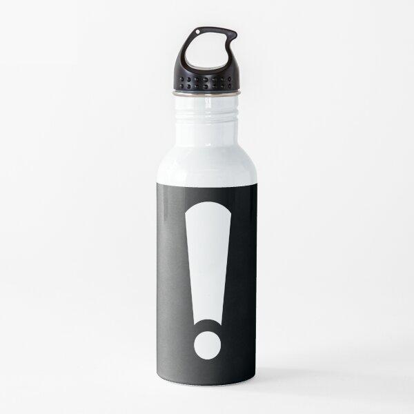 Exclamación Botella de agua