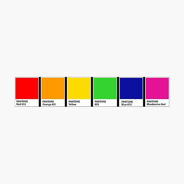 Pantone Rainbow Colour Chips Photographic Print