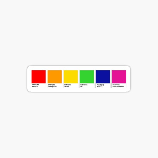 Pantone Rainbow Colour Chips Sticker