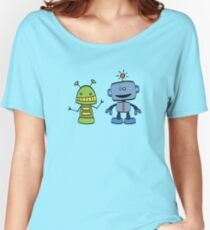 robot friends Women's Relaxed Fit T-Shirt