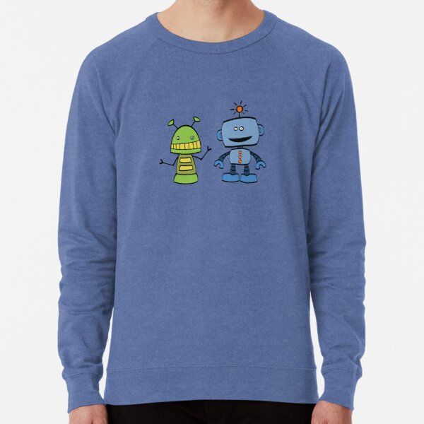 robot friends Lightweight Sweatshirt