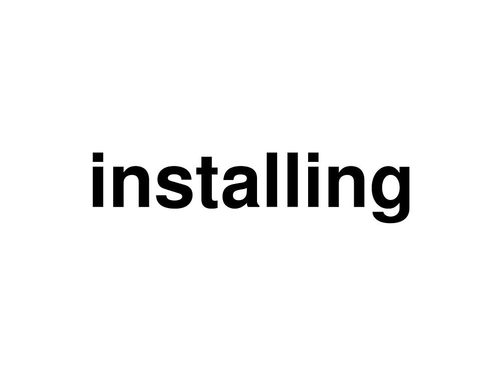 installing by ninov94