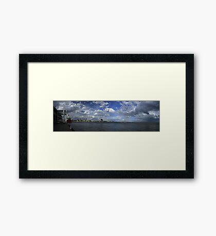Melbourne Panorama With Spirit Of Tasmania Framed Print