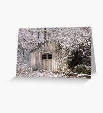 Snowy Scene Greeting Card