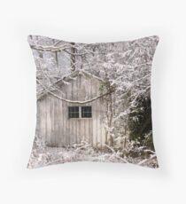 Snowy Scene Throw Pillow