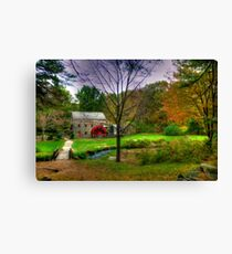 Autumn at Wayside Grist Mill Canvas Print