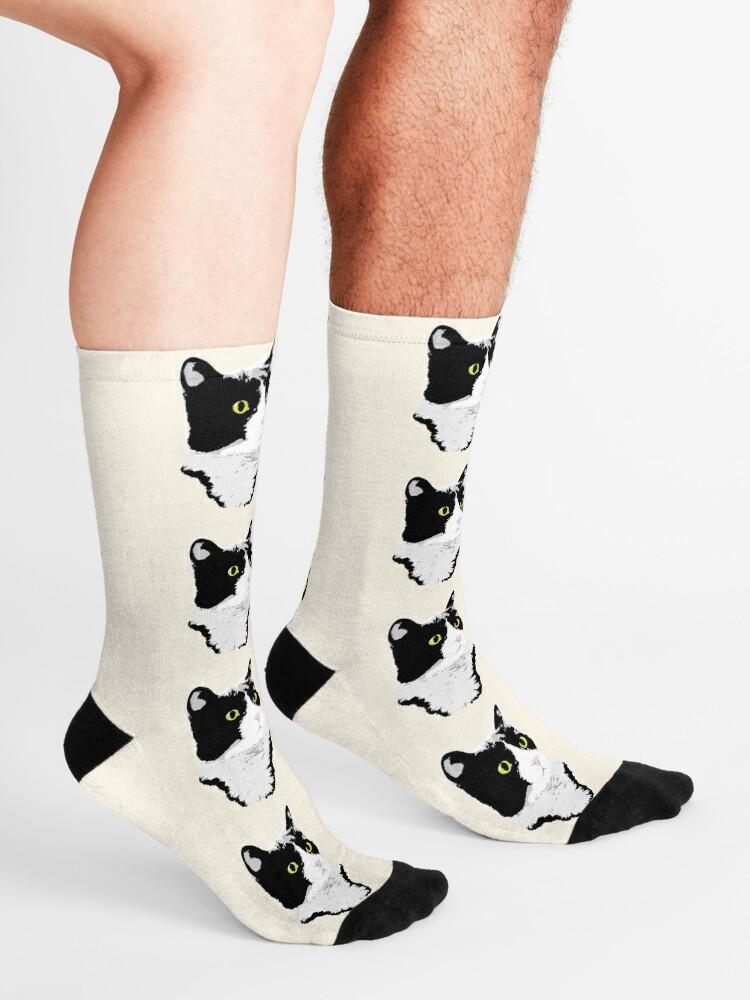 Alternate view of Regal Tuxedo Kitty Socks