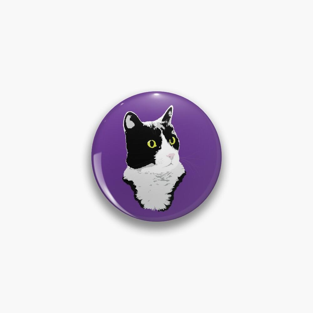 Regal Tuxedo Kitty Pin