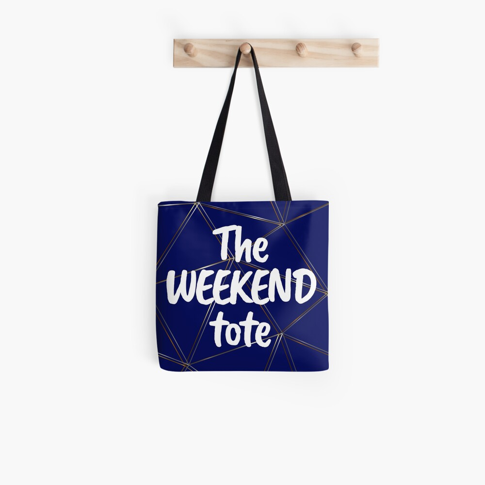 The weekend tote - silver gold blue bag Tote Bag