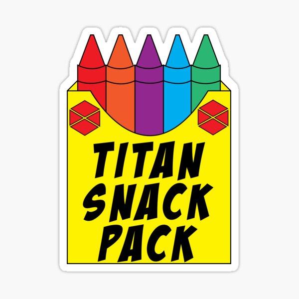Titan Snack Pack Sticker