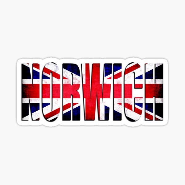 Norwich City FC England Great Britain T-Shirt Sticker