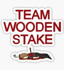 Team Wooden Stake (Black) Sticker
