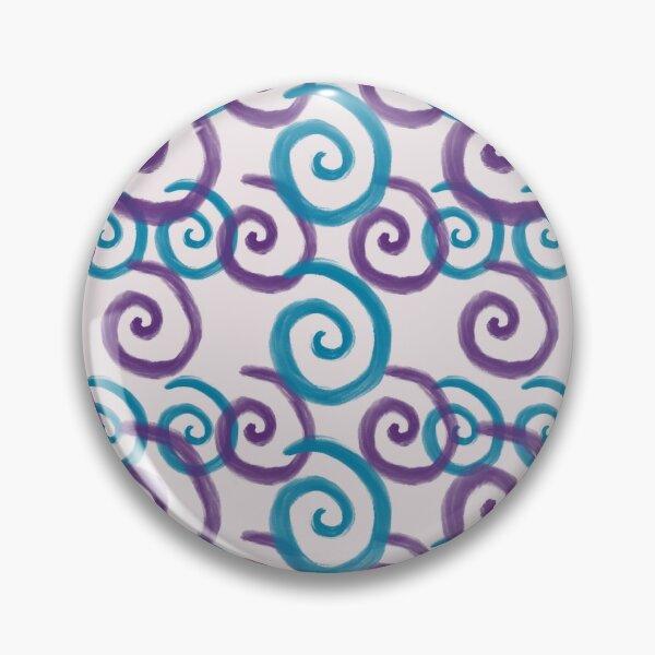 Blue and Purple Swirls Pin