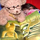 The Bear Reading To His Friend by Liza Barlow
