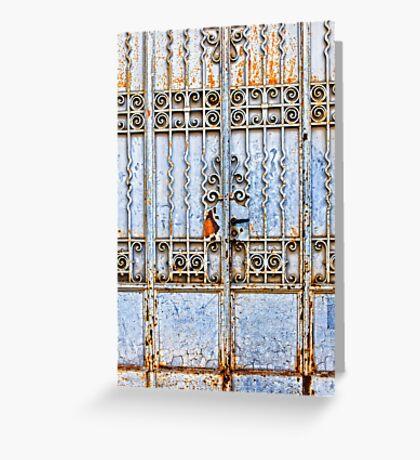 Rusty gate Greeting Card