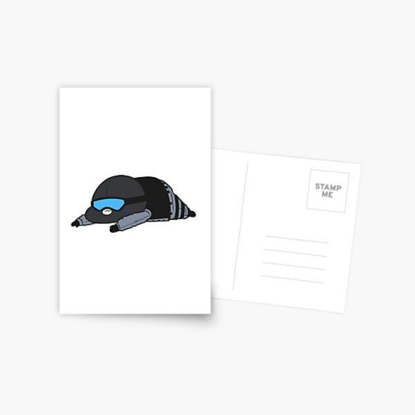 Blue Recruit Chibi  Postcard
