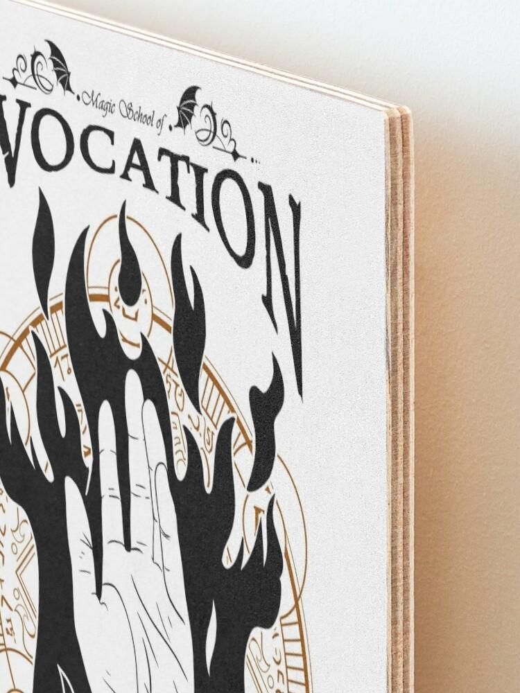 Alternate view of Evocation - RPG Magic School Series : Black Mounted Print