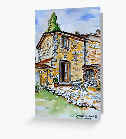 La Vigna. Anghiari. Tuscany. Greeting Card