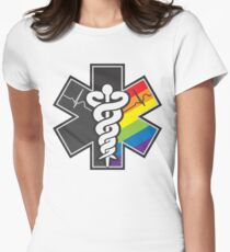 LGBT Pride - Star of Life Women's Fitted T-Shirt