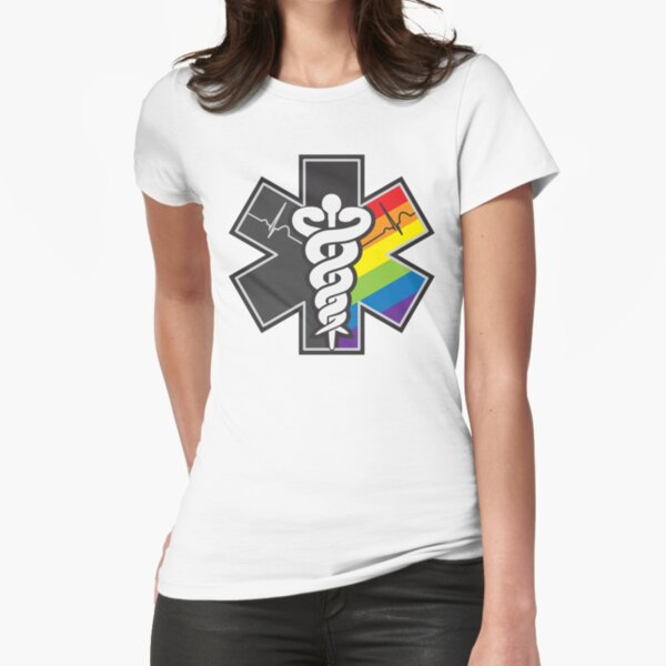 LGBT Pride - Star of Life Fitted T-Shirt