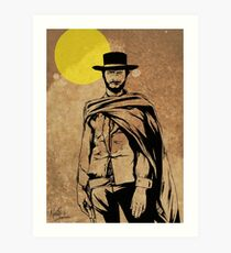Cowboy legend - Clint Eastwood / Dirty Harry minimalist Art Print