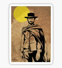 Cowboy legend - Clint Eastwood / Dirty Harry minimalist Sticker