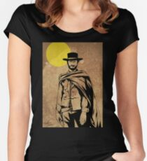 Cowboy legend - Clint Eastwood / Dirty Harry minimalist Women's Fitted Scoop T-Shirt