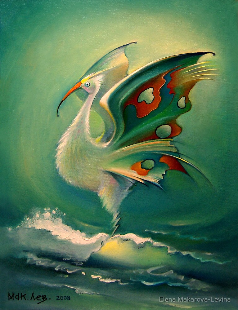 The Bird of Happiness on the Wave of Success! by Elena Makarova-Levina