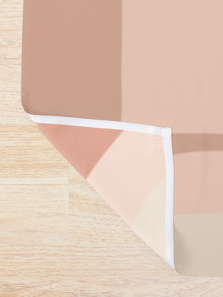 Alternate view of Softy Blocks Shower Curtain