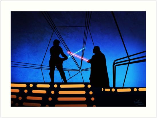 STAR WARS! Luke vs Darth Vader  by GannucciArt