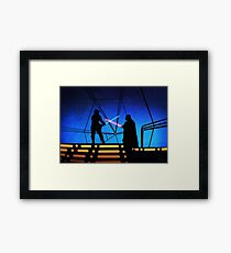STAR WARS! Luke vs Darth Vader  Framed Print