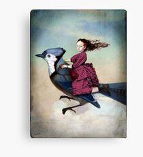 On sundays she always flies out Canvas Print