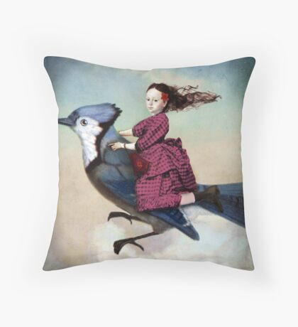 On sundays she always flies out Throw Pillow