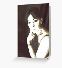 highlighted play portrait Greeting Card