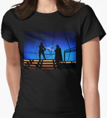 STAR WARS! Luke vs Darth Vader  Women's Fitted T-Shirt
