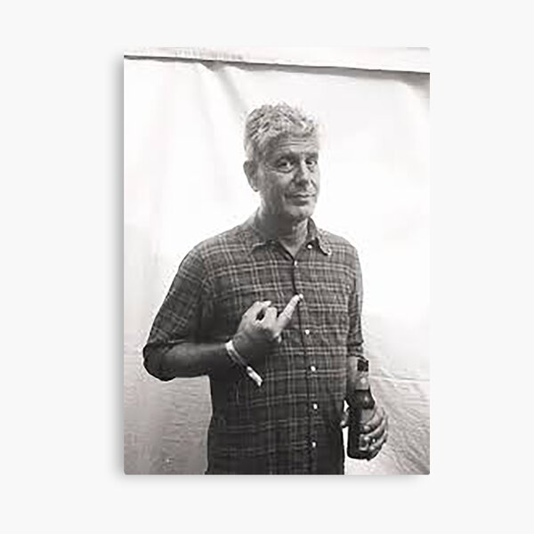 Thank you Anthony Bourdain Canvas Print