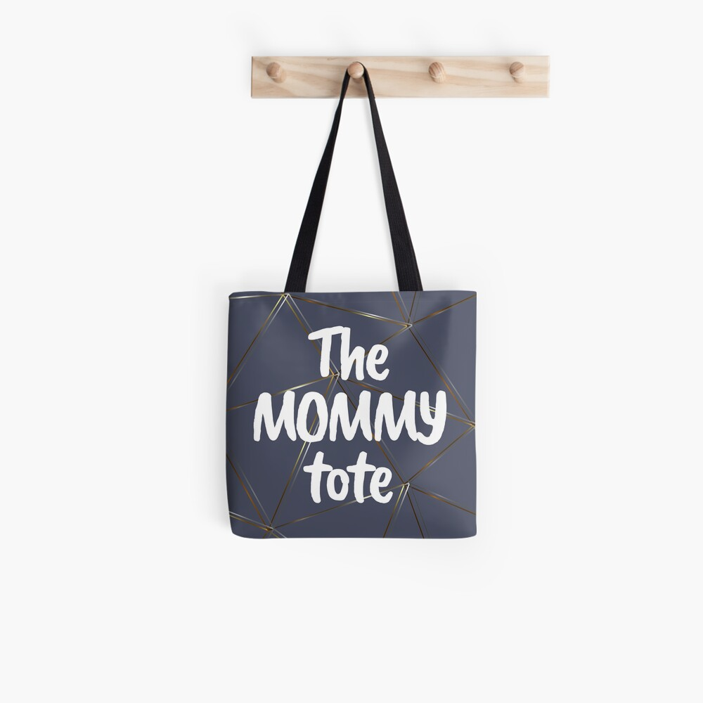 The mommy tote - silver gold gray blue bag Tote Bag