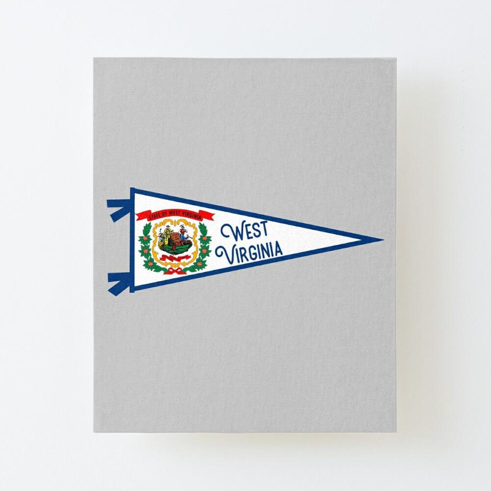 West Virginia Flag Pennant Art Board Print By Zsonn Redbubble