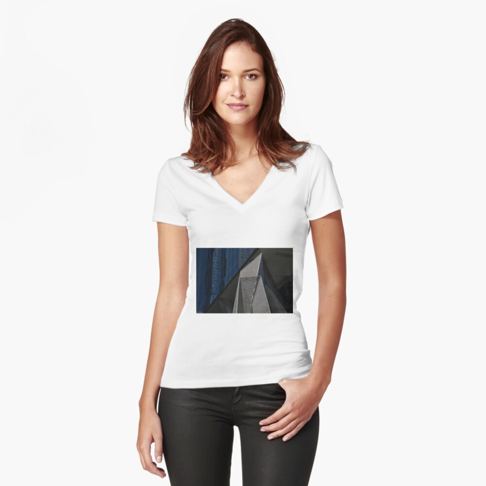 Angles Women's Fitted V-Neck T-Shirt Front