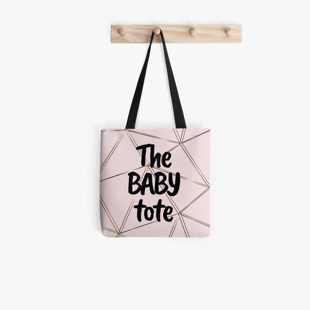 The baby tote - silver gold baby pink bag Tote Bag