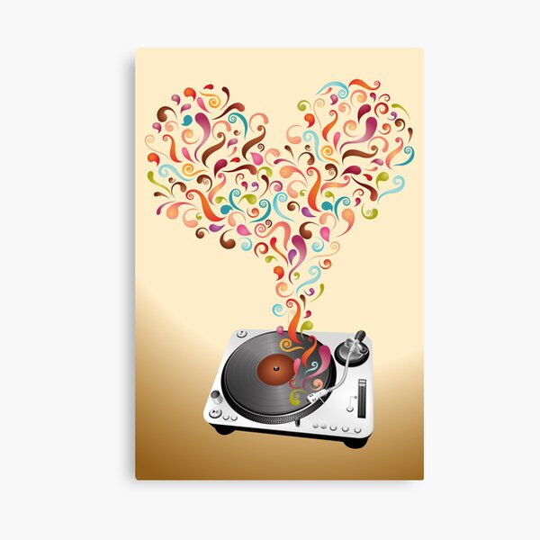 Music lovers - abstract poster Canvas Print