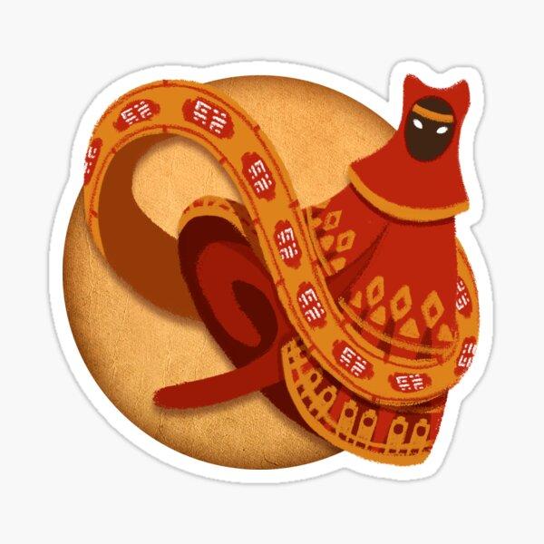 Journey red traveller Sticker