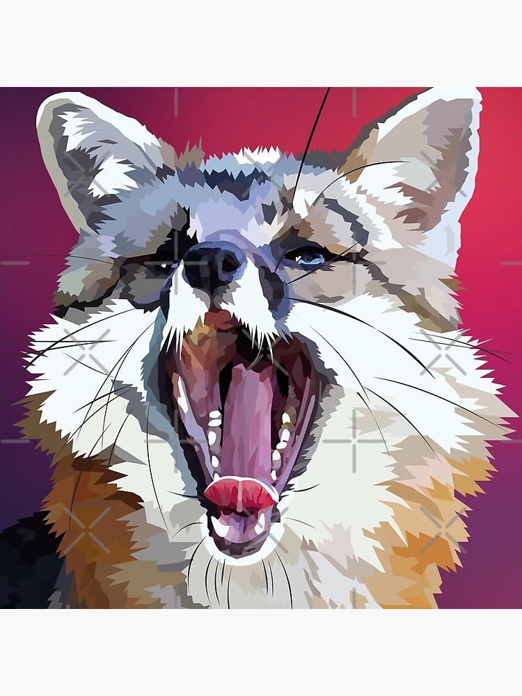 Yawning fox by Elviranl