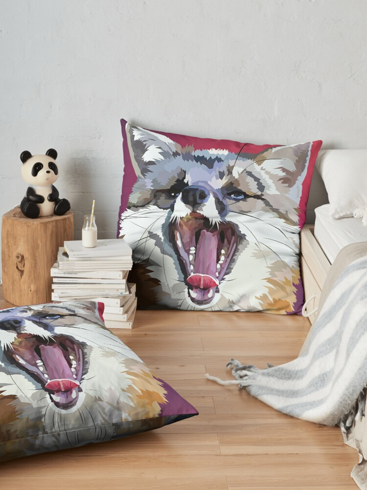 Alternate view of Yawning fox Floor Pillow