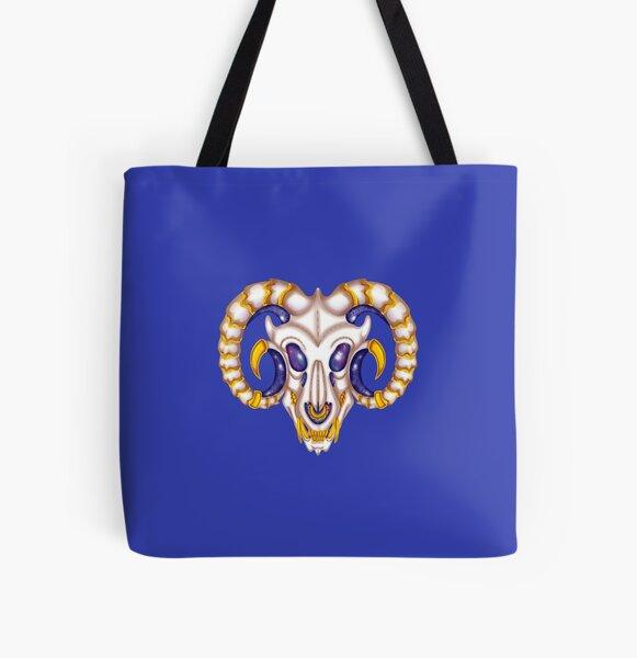 Galaxy dragon skull All Over Print Tote Bag