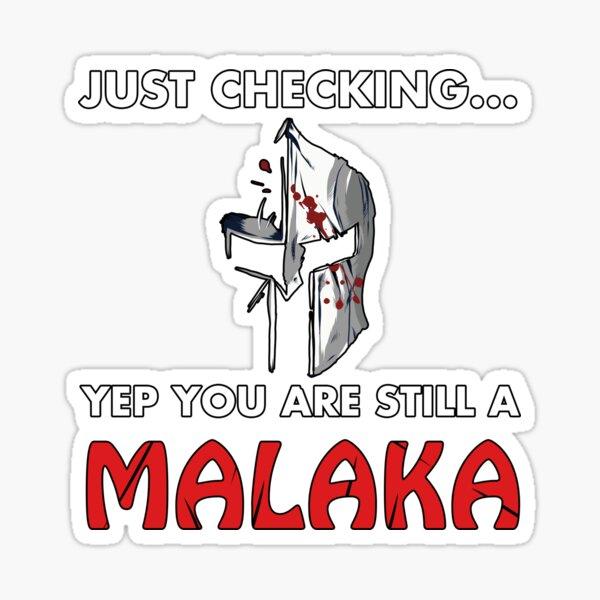 Malaka Shirt Greek Shirts Sticker
